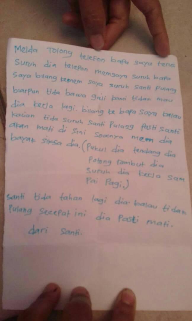 Surat dari Santi.