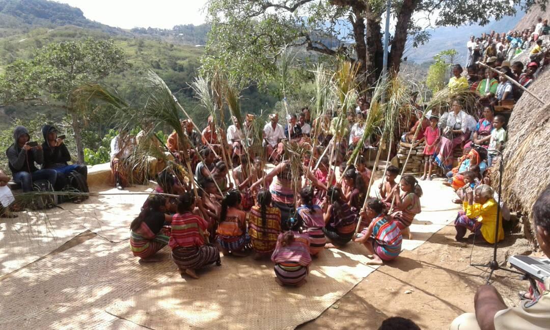 Tarian di festival budaya di Duarato.