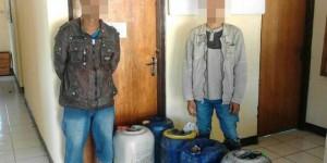 Polsek Lasiolat Amankan 5 Warga yang Angkut Ratusan Liter BBM Tanpa Izin di Jalur Perbatasan RI-RDTL