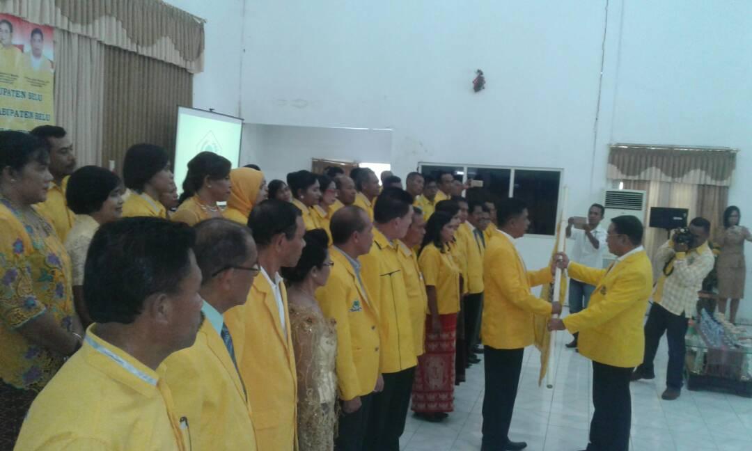 Jefri Nahak Dilantik Jadi Ketua Partai Golkar Kabupaten Belu.
