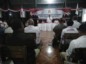 Rakorda Gerindra, Esthon Foenay Ajak Kader Jaga Kepercayaan Rakyat